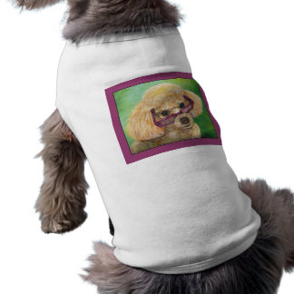 Apricot Poodle wearing Glasses Shirt