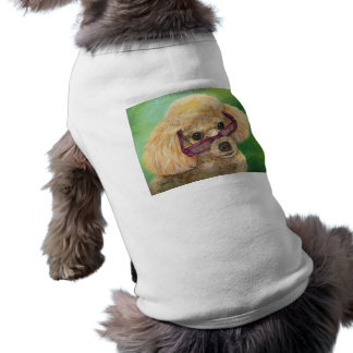Apricot Poodle wearing Glasses T-Shirt