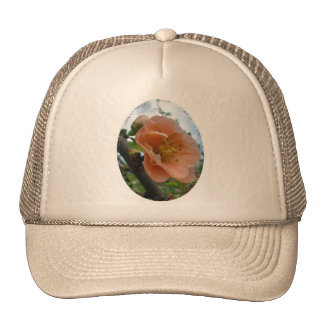APRICOT QUINCE BLOOM TRUCKER HAT