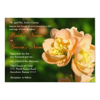 Apricot Quince Wedding Invitation