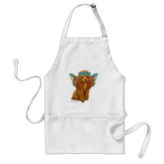 Apricot Red Poodle Fairy Adult Apron