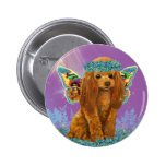 Apricot Red Poodle Puppy Fairy Buttons