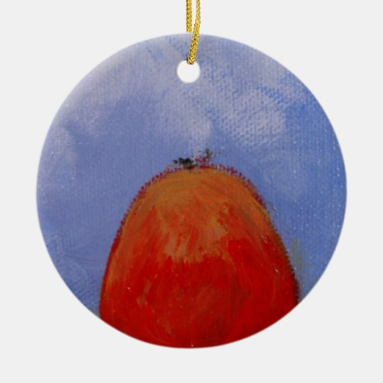 Apricot Redemption Design Ceramic Ornament