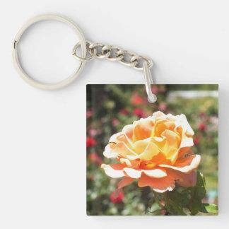 Apricot Rose Acrylic Keychain