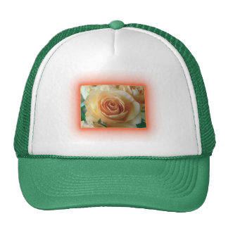Apricot Rose Blur Trucker Hat