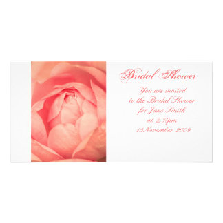 Apricot Rose - Bridal Shower Invitation Picture Card