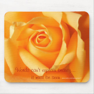 Apricot Rose-customize Mouse Pad