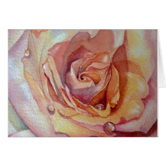 Apricot Rose Greeting Card,  white envelopes Card