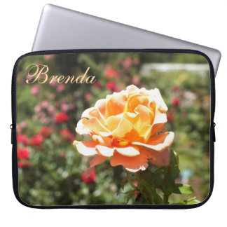 Apricot Rose Laptop Sleeve *personalize*