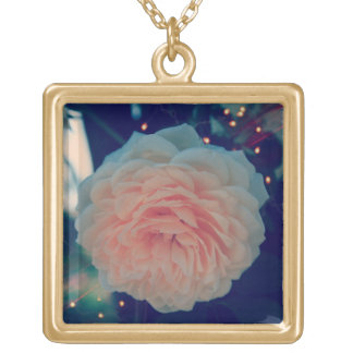 Apricot Rose Necklace