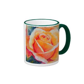Apricot Rose Ringer Mug