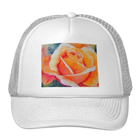Apricot Rose Trucker Hat