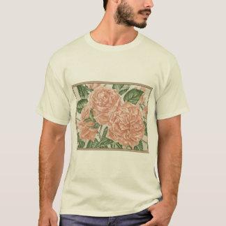 Apricot Roses Flower Garden Painting T-Shirt