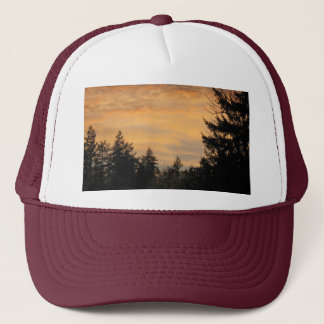 Apricot Skies at Sunset, photograph Trucker Hat
