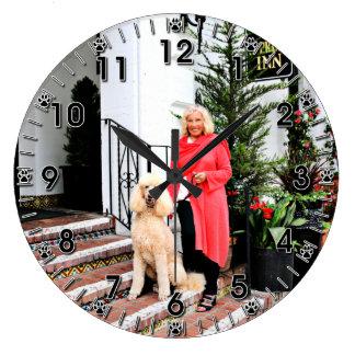Apricot Standard Poodle - Bocelli Clock