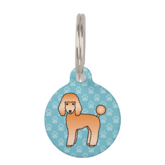 Apricot Standard Poodle Dog And Pet's Info Pet Tag