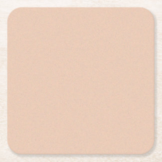 Apricot Star Dust Square Paper Coaster