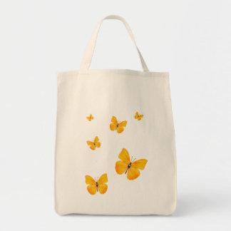 Apricot Sulphur Butterflies Tote Bag