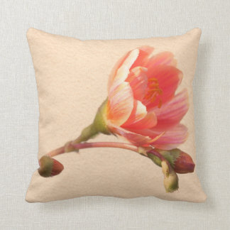 Apricot Sunset Throw Pillow