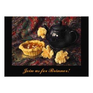 Apricot Tart Brinner Invitation