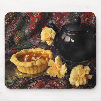 Apricot Tart with Pitcher and Carnations Mouse Pad