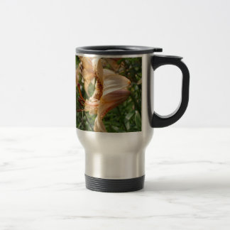 Apricot Tiger Lilies Travel Mug