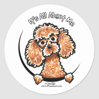 Apricot Toy Miniature Poodle IAAM Classic Round Sticker