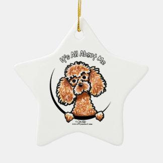 Apricot Toy Miniature Poodle IAAM Ornament