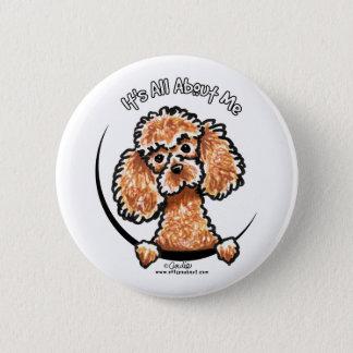 Apricot Toy Miniature Poodle IAAM Pinback Button