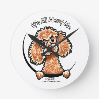 Apricot Toy Miniature Poodle IAAM Round Clock