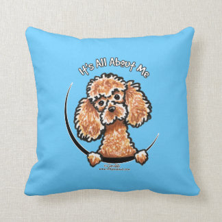 Apricot Toy Miniature Poodle IAAM Throw Pillow