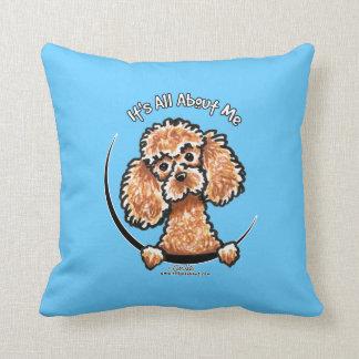 Apricot Toy Miniature Poodle IAAM Throw Pillow