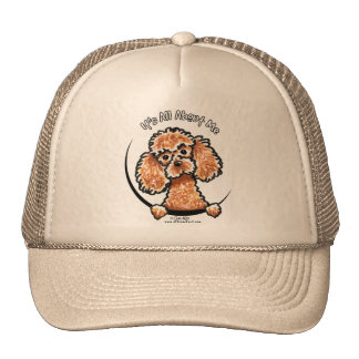 Apricot Toy Miniature Poodle IAAM Trucker Hat