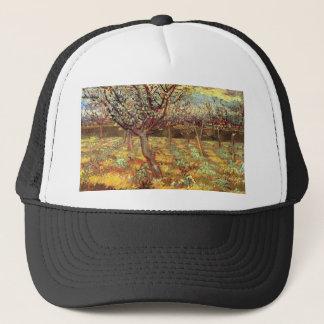 Apricot Trees in Blossom, Vincent van Gogh.  Vinta Trucker Hat
