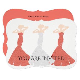 Apricot Wedding Bridesmaid Bridal Party Invitation