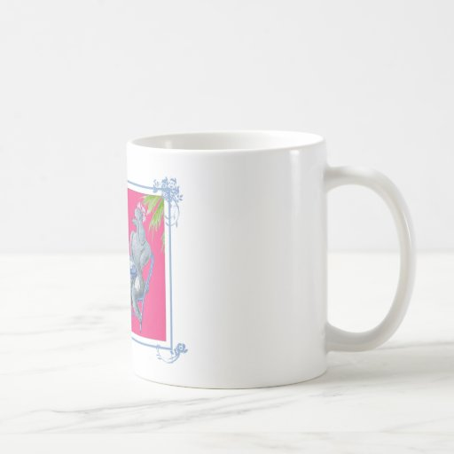 Apricot White and Silver Poodle Party Classic White Coffee Mug