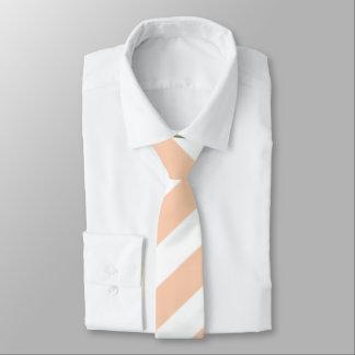 Apricot & White Large Stripe Necktie