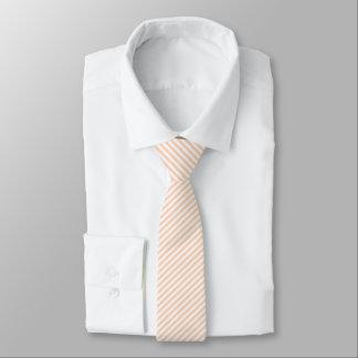 Apricot & White Micro Stripe Necktie