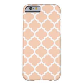 Apricot White Moroccan Quatrefoil Pattern #5 Barely There iPhone 6 Case