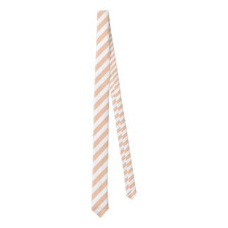 Apricot & White Regular Stripe Necktie