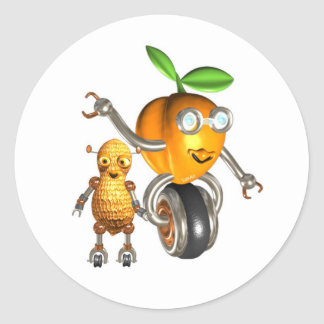 ApricotBot and PeanutBot Classic Round Sticker