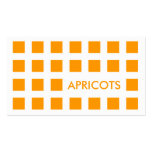APRICOTS (mod squares) Double-Sided Standard Business Cards (Pack Of 100)
