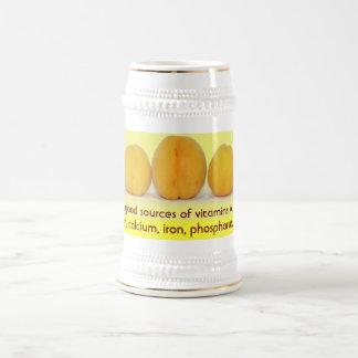 Apricots stein 18 oz beer stein