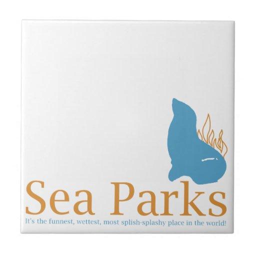 Aprieta parques del mar azulejo cuadrado pequeño