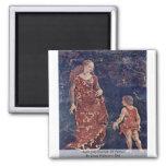 April [04]-Triumph Of Venus By Cossa Francesco Del 2 Inch Square Magnet