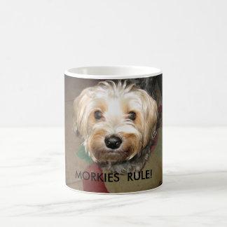APRIL 14. 2008 043, MORKIES  RULE! COFFEE MUG