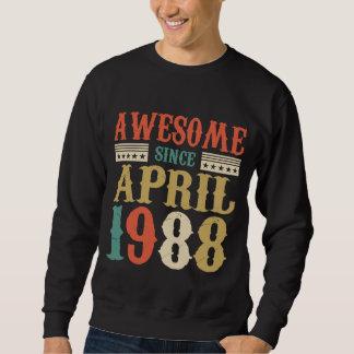 April 1988 T-Shirt. Birthday Costume Ideas. Sweatshirt