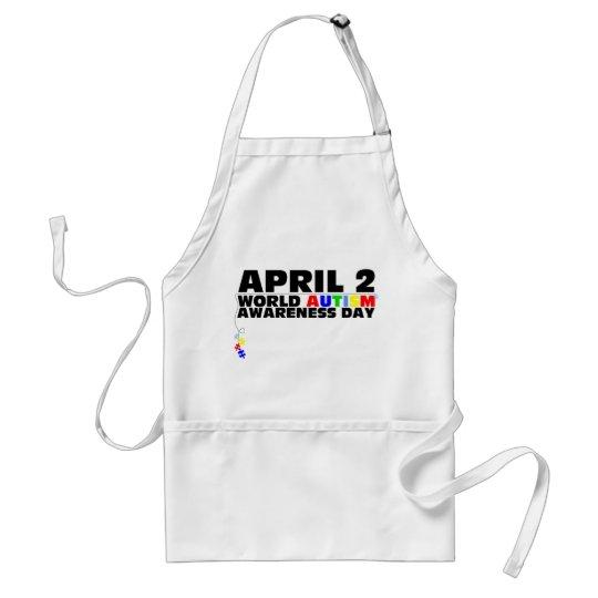 April 2, World Autism Awareness Day Adult Apron