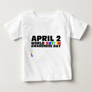 April 2, World Autism Awareness Day Baby T-Shirt