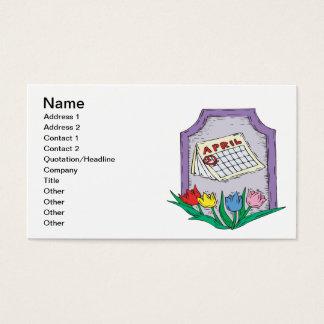 April  3 business card